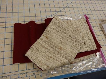 Beige Tussah silk reversible to a dark red