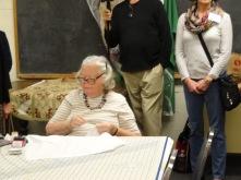 Ann Holley hemming altar linens
